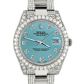 Rolex Datejust II 41mm 10.3CT Diamond Bezel/Case/Bracelet/Turquoise