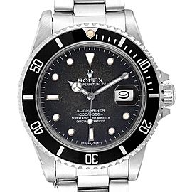 Rolex Submariner Tropical Dial Vintage Steel Mens Watch 16800 Box