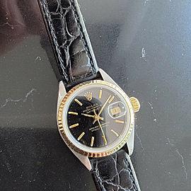 Ladies Rolex Datejust Ref 69173 26mm 18k Gold & SS Automatic 1980s Box MA202