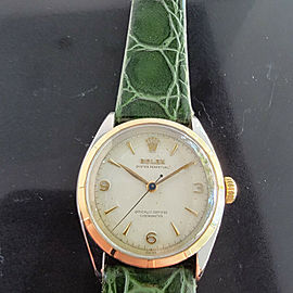 Mens Rolex Oyster Perpetual Ref 6085 34mm 14k Gold & SS Automatic 1950s MA206