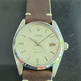 Mens Rolex Oysterdate Precision Ref 6694 34mm Hand-Wind 1980s Swiss MA207