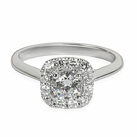 GIA Certified Halo Diamond Engagement Ring in Platinum
