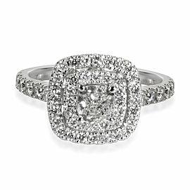 Neil Lane Cushion Halo Diamond Engagement Ring in 14K White Gold 1.13 CTW