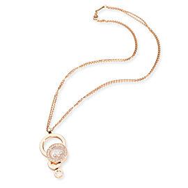 Chopard Happy Dreams Diamond Necklace in 18K Rose Gold 0.75 CTW