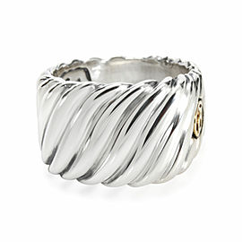 David Yurman Cable Signet Ring in Sterling Silver