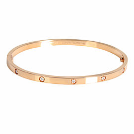 Cartier Love Diamond Bracelet in 18K Rose Gold 0.21 CTW