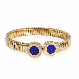 Bulgari Tubogas Lapis Lazuli Cuff in 18K Yellow Gold