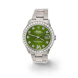 Rolex Datejust Midsize 31mm 1.52ct Bezel/Royal Green Diamond Roman VI Dial Watch