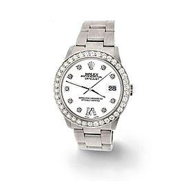 Rolex Datejust Midsize 31mm 1.52ct Bezel/White Diamond Roman VI Dial Watch