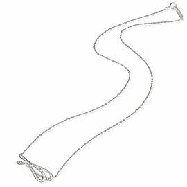 Tiffany & Co. Diamond Bow pendant in 18k white gold 0.37 ctw