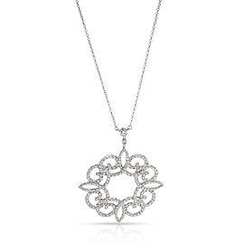 Tiffany & Co. Enchant Diamond Necklace in Platinum 0.98 CTW