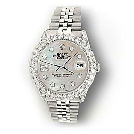 Rolex Datejust 31mm 2.95ct Diamond Bezel/Lugs/Champagne MOP Roman IX Star Dial
