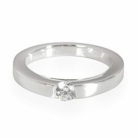 Cartier Diamond Solitaire Ring in Platinum GIA Certified G VVS1 0.21 CT