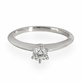 Tiffany & Co. Solitaire Diamond Engagement Ring in Platinum G VS1 0.25 CT