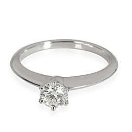 Tiffany & Co. Solitaire Diamond Engagement Ring in Platinum H SI1 0.44 CTW