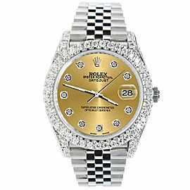 Rolex Datejust 41mm 5.9CT Bezel/Lugs/Sides/Champagne Dial 126300