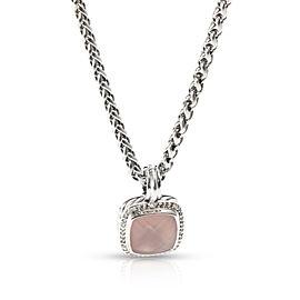 David Yurman Albion Chalcedony & Diamond Necklace in Sterling Silver