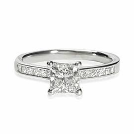 Blue Nile Princess Diamond Engagement Ring in 14K White Gold H VS2 1.20 CTW