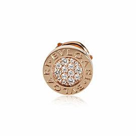Bulgari Bvlgari Bvlgari Single Diamond Stud Earring in 18K Rose Gold 0.09 CTW