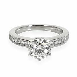 Tiffany & Co. Diamond Engagement Ring in Platinum G VS1 1.78 CTW