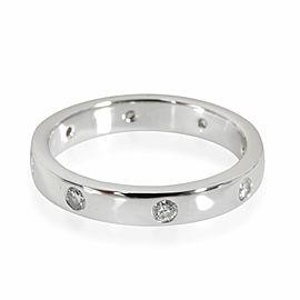 Diamond Wedding Band in 18K White Gold 0.24 CTW