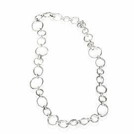 David Yurman Diamond Crossover Convertible Necklace in Sterling Silver 0.47 CTW