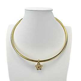 Versace - New - Medusa Gold Tone Choker - Brass - Necklace