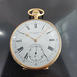 Patek Philippe Chronometro Gondolo 52mm 18k Gold Pocket Watch wBox c1910s RA184