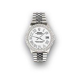 Rolex Datejust 36mm 4.6ct Dome Diamond Bezel/White Jubilee Roman Dial Watch