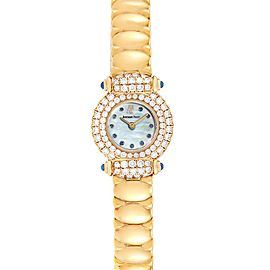 Audemars Piguet Yellow Gold MOP Diamond Sapphire Ladies Watch