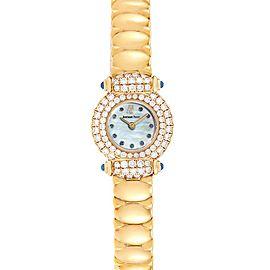 Audemars Piguet Yellow Gold MOP Diamond Sapphire Ladies Watch