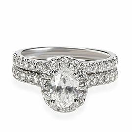 Neil Lane Diamond Wedding Set in 14K White Gold H-I I1 2.15 CTW