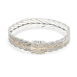 John Hardy Chain Collection Diamond Bracelet in Sterling Silver 2.37 CTW