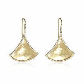 Kimaya Diamond Fan Earrings in 18K Yellow Gold (1.09 ctw)