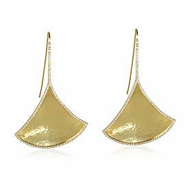 Amrapali Kimaya Diamond Edged Fan Earrings in 18K Yellow Gold (1.84 ctw)