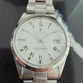Mens Rolex Oyster Perpetual Date 15000 35mm Automatic 1980s w Rolex Paper RA247