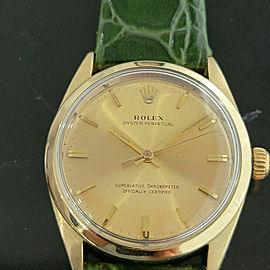 Mens Rolex Oyster Perpetual 1024 34mm Gold-Capped Automatic 1960s Vintage RA185