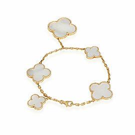 Van Cleef & Arpels Magic Alhambra 5 Station Mother Of Pearl Bracelet
