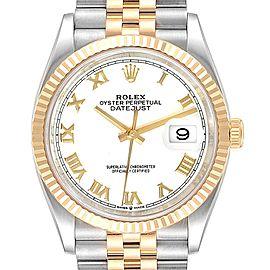 Rolex Datejust Steel Yellow Gold Jubilee Bracelet Mens Watch 126233