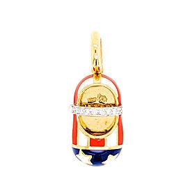 Aaron Basha America 18k Yellow Gold Diamond Pendant