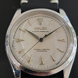 Mens Rolex Oyster Perpetual Ref 6284 34mm Bubbleback Automatic 1950s Swiss RA192