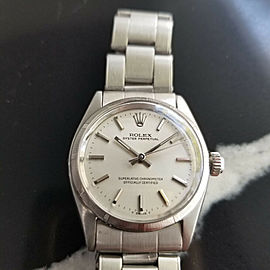 Midsize Rolex Oyster Perpetual Ref 6549 30mm Automatic 1960s Swiss Vintage RA128