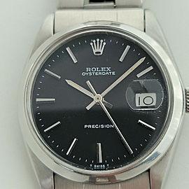 Mens Rolex Oysterdate Precision Ref 6694 34mm Hand-Wind 1960s Vintage RJC101