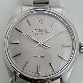 Mens Rolex Oyster Precision 5500 Air King 34mm Automatic 1960s Vintage RJC106