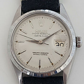 Mens Rolex Oyster Perpetual Datejust 6605 36mm Automatic 1950s Vintage RA198