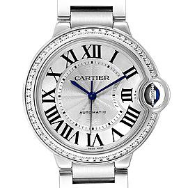Cartier Ballon Bleu 36 Midsize Diamond Ladies Watch W4BB0017 Unworn
