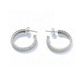 Tiffany & Co. Sterling Silver Hoop Mesh Earrings