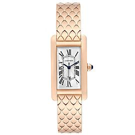 Cartier Tank Americaine Midsize 18K Rose Gold Ladies Watch W2620032