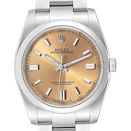 Rolex Oyster Perpetual 36 White Grape Dial Mens Watch 116000 Box Card