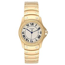 Cartier Santos Ronde 18K Yellow Gold Unisex Watch W20028G1